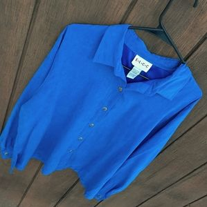 Faux Suede Polyester Button Down | Women's XL